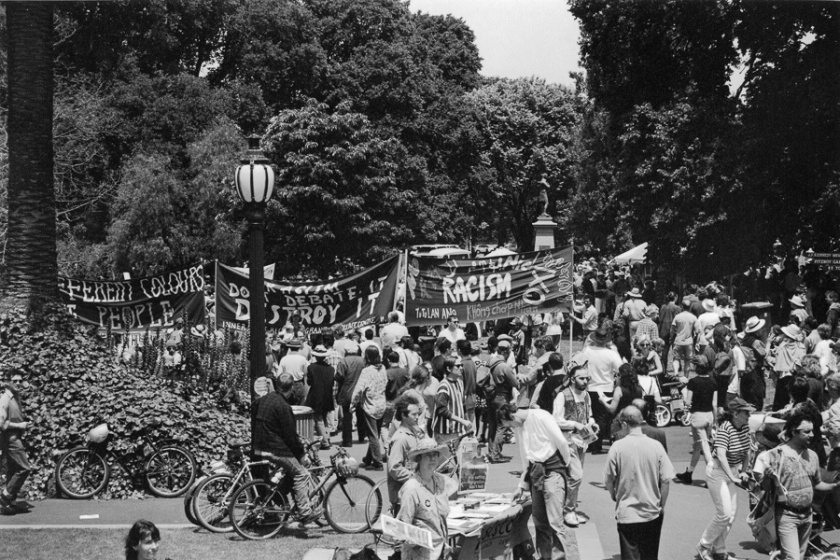 Rally against Racism 1996 Treasury Gardens Melbourne